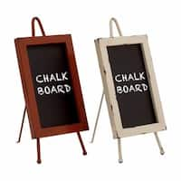 Metal and Wood Chalkboard (Set of 2)
