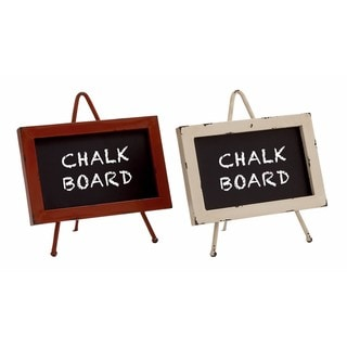 Textured Metal and Wood Chalkboard (Set of 2)