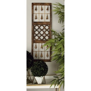 Link to Set of 3 Eclectic 36 Inch Brown Wooden Wall Panels by Studio 350 Similar Items in Wood Wall Art