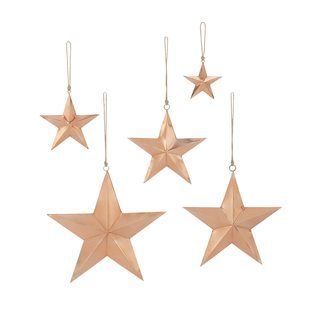 Red Copper Rustic Reflections Star (Pack of 5)