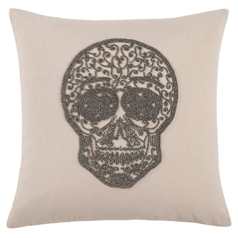 Echelon Home Skull Decorative Throw Pillow
