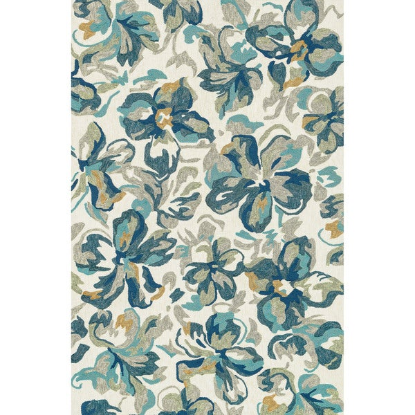 cd7318ea6eb Shop Indoor  Outdoor Island Cove Ivory  Floral Rug - 9 3 x 13  - Free  Shipping Today - Overstock - 14522802