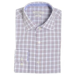 Perry Ellis Men's Red Cotton-blend Slim-fit Wrinkle-free Dress Shirt