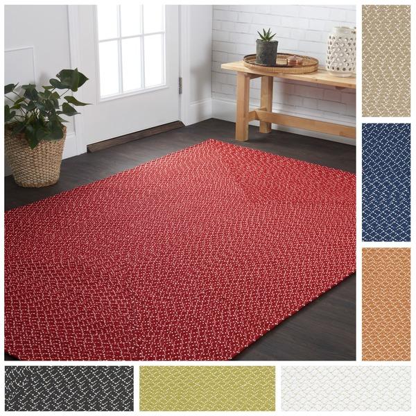 Indoor/ Outdoor Hand-woven Rope Patio Area Rug - 9'3 x 13'