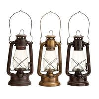 Pine Canopy Trillium Antique Oil-rubbed Brass and Glass Lantern (Set of 3)