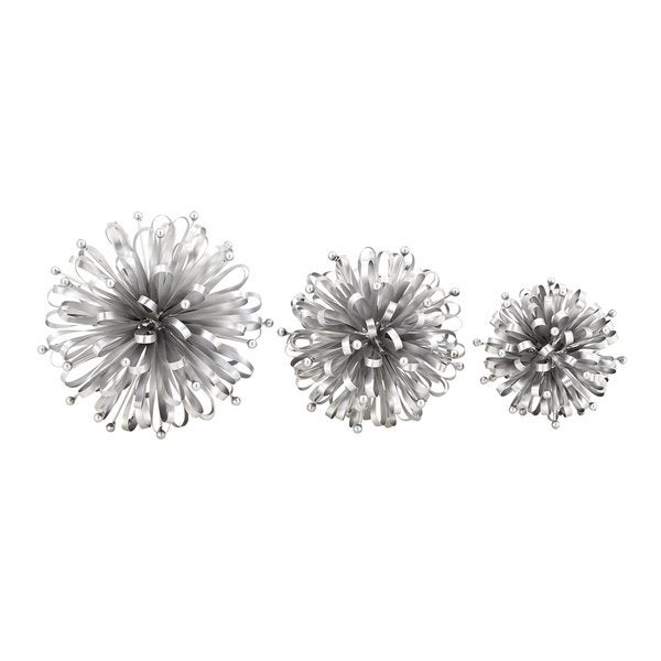 Silver Orchid Mackaill Silver Metal Stars (Set of 3)