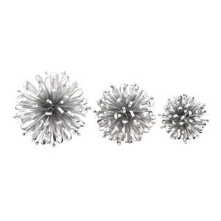 Silver Metal Stars (Set of 3)