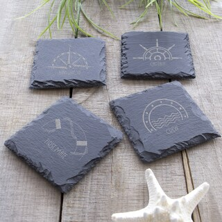 Nautical Slate Coasters (Pack of 4)