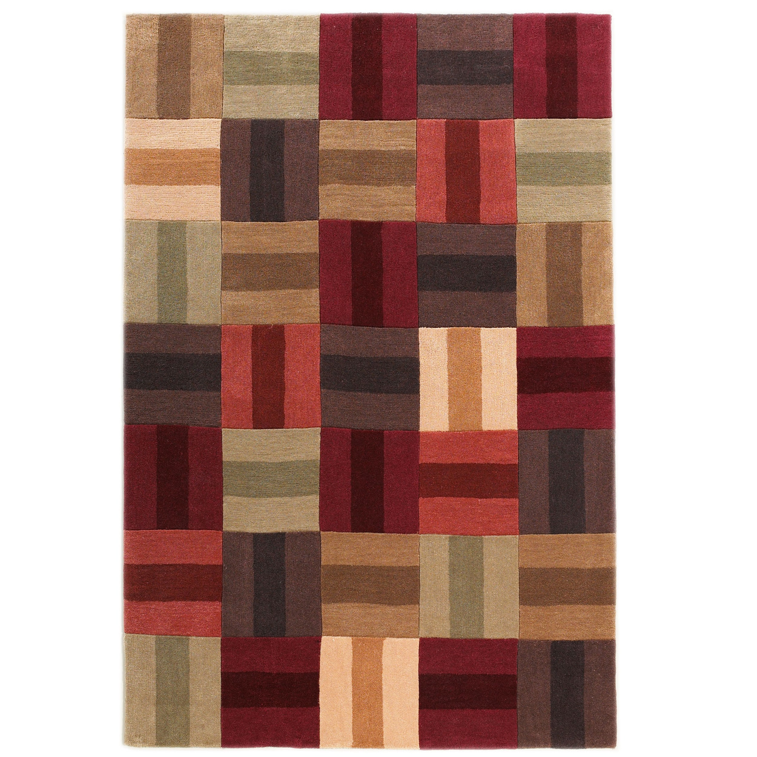 Linon Hand Tufted Trio Scotch Multi Rug (8' X 10') (Size)...