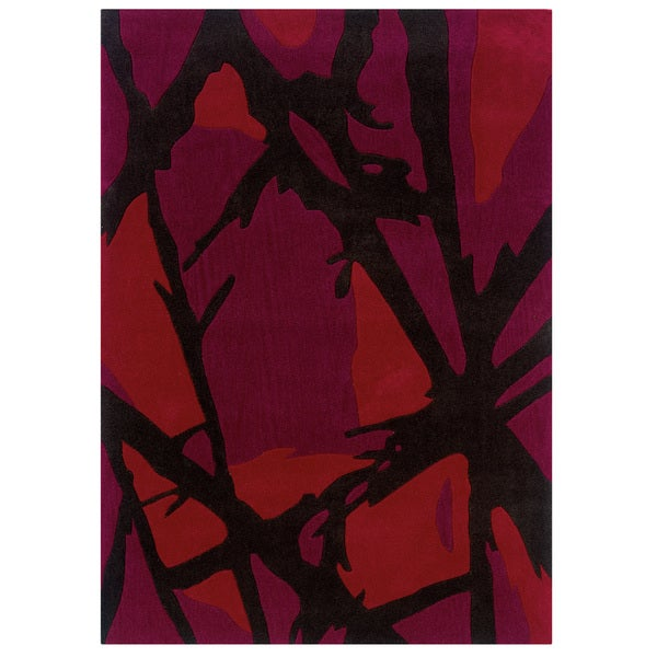 "Hand Tufted Trio Fracture Red Rug (1'10"" X 2'10"")"