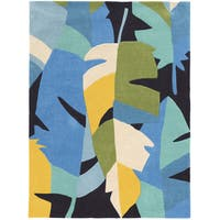 Hand Tufted TRIO Feather Blue Rug (8' X 10')