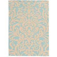 Hand Tufted TRIO Flourish Blue Rug (8' X 10')
