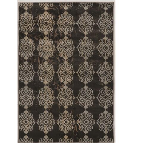 Power Loomed Jewel Collection Vintage Royal Beige Rug