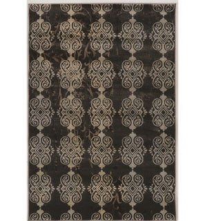 "Power Loomed Jewel Collection Vintage Royal Beige Rug (8' X 10'4"")"
