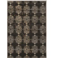 Power Loomed Jewel Collection Vintage Royal Beige Rug