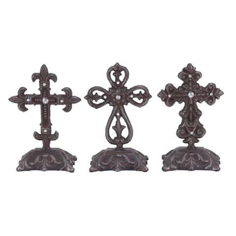 Gracewood Hollow Hubbard Metal Cross Decor (Pack of 3)