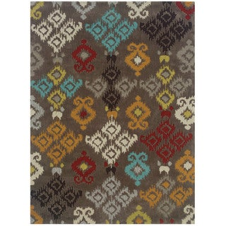 "Hand Tufted TRIO Ikat Grey Rug (1'10"" X 2'10"")"