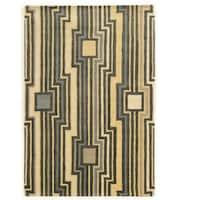 """Hand Tufted Aspire Wool Board Grey/Blue Wool Rug (1'10"""" X 2'10"""")"""