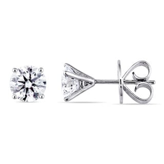 Miadora Signature Collection 18k White Gold 2ct TDW Diamond Martini-Style Stud Earrings