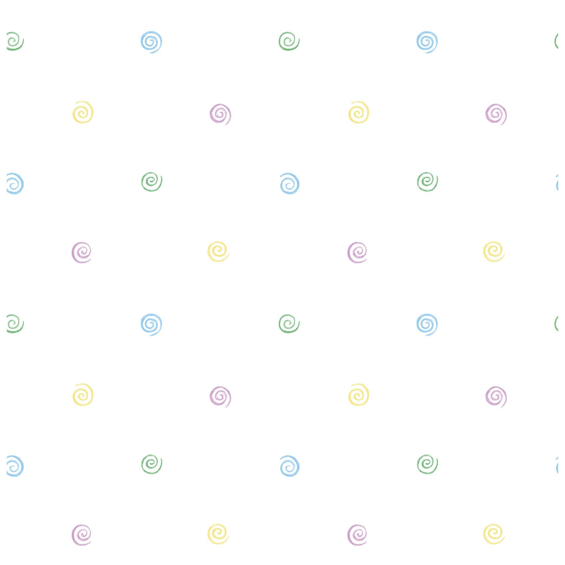 Brewster Purple/Blue/White Polka Dot Wallpaper (Purple Po...