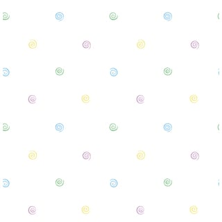 Purple/Blue/White Polka Dot Wallpaper
