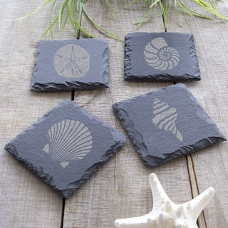 Sea Shell Slate Coasters (Pack of 4)