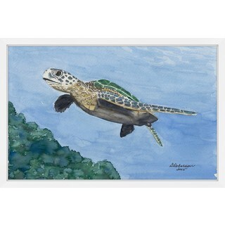 'Turtle of the Sea' Framed Painting Print