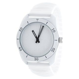 RBX Analog Silicone Stretch Watch - White