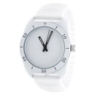 RBX Analog Silicone Stretch Watch - White