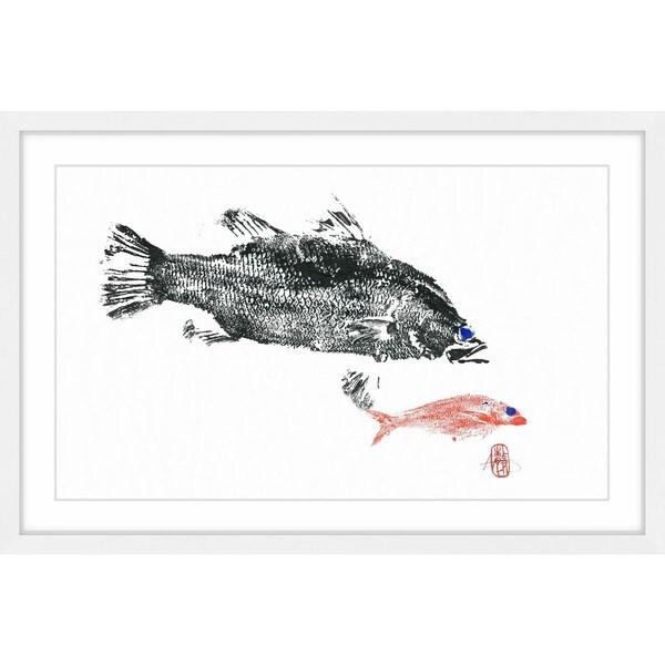 Barramundi Hunting\' Framed Painting Print - Free Shipping Today ...