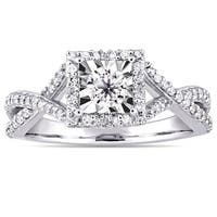 Miadora Sterling Silver 1/2ct TDW Diamond Crossover Engagement Ring
