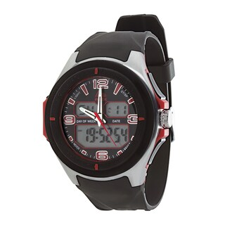 RBX Active Analog & Digital Multifunction Rubber Watch - Red