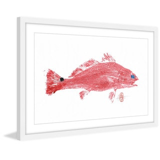 'Red Fish' Framed Painting Print