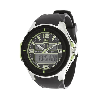 RBX Active Analog & Digital Multifunction Rubber Watch - Olive