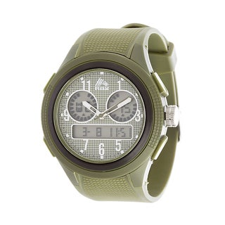 Analog Active Multifunction RBX Rubber Watch - Olive