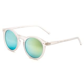 Pop Fashionwear P2122 Unisex Retro Fashion Round Frame Sunglasses (Option: Grey Yellow Mirror - Grey - Yellow)