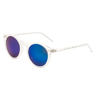 Pop Fashionwear P2122 Unisex Retro Fashion Round Frame Sunglasses (Option: Clear Blue Mirror - Clear - Blue)