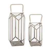 Strick & Bolton Dinah 2-piece Metal and Glass Lantern Set