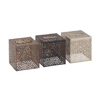 Metal Square Tissue Holder (Set of 3)