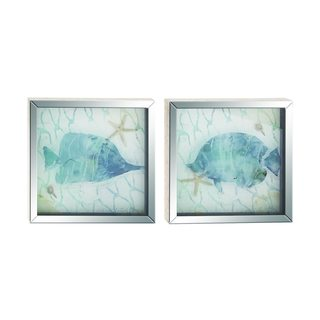 Havenside Home Buckroe 2-piece Polystone Frame Mirror Art