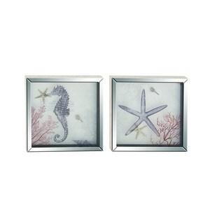 Polystone Framed Mirror Art (Set of 2)