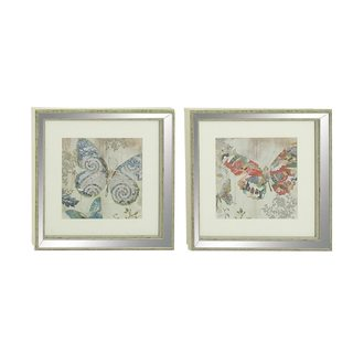 Polystone Mirror-framed Art (Set of 2)