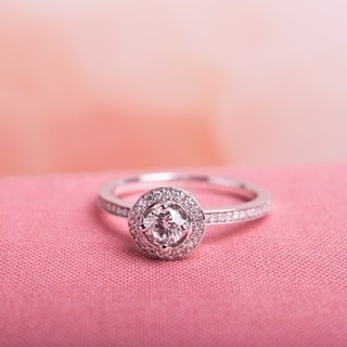 Miadora Signature Collection 14k White Gold 1/2ct TDW Diamond Halo Engagement Ring (G-H, I1-I2)