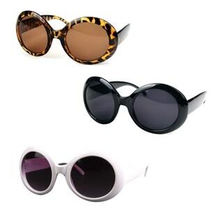 Pop Fashionwear P547 Women's Fashion Circle Round Jackie O Bold Chic Plastic Sunglasses