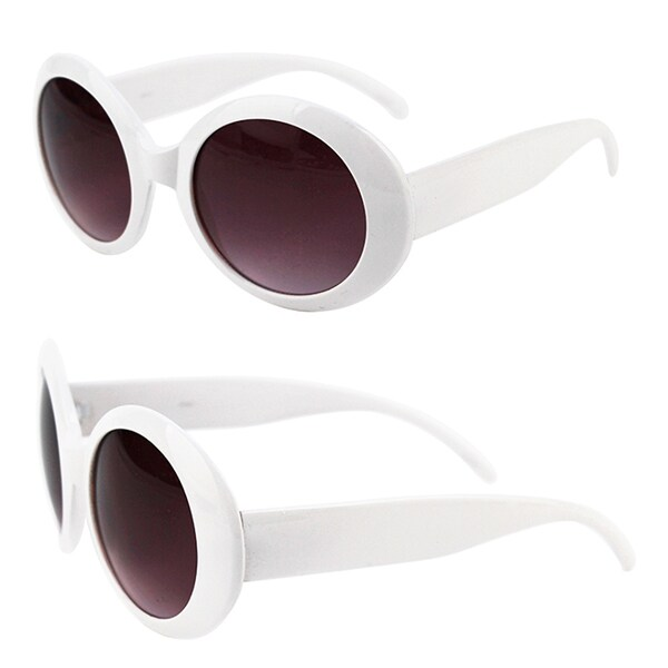 Pop Fashionwear Women's Fashion Circle Round Jackie O Bold Chic Plastic Sunglasses P547