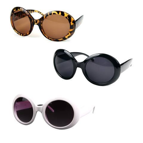 Women's Circle Round Jackie O Bold Chic Sunglasses P547