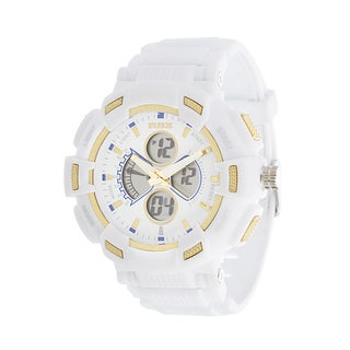 RBX Active Analog & Digital RBX Rubber Watch - White