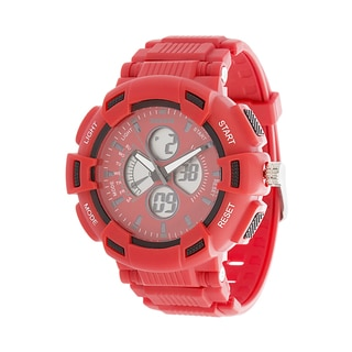 RBX Active Analog & Digital Rubber Watch - Red