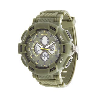 RBX Active Analog & Digital Rubber Watch - Olive https://ak1.ostkcdn.com/images/products/14523145/P21077195.jpg?impolicy=medium