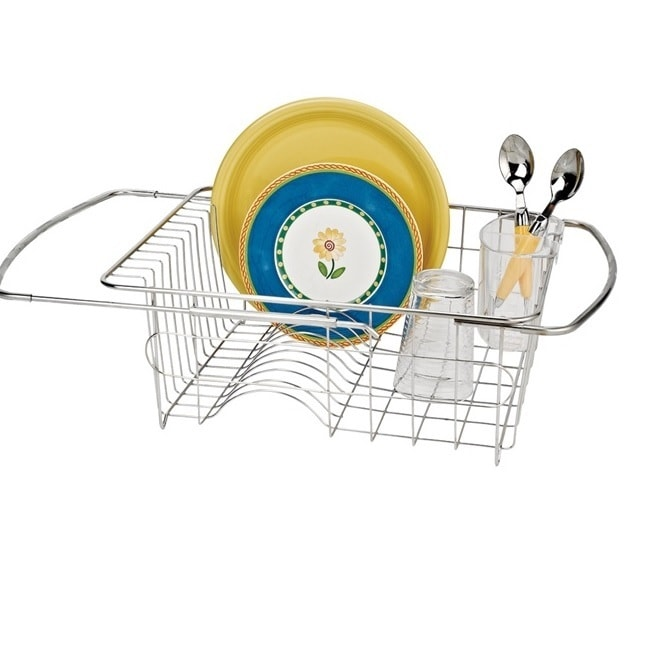 Adjustable Over The Sink Dish Drainer (Stainless Steel), ...